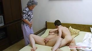 OmaHoteL Senior Three-Way Furry Mature Getting Off