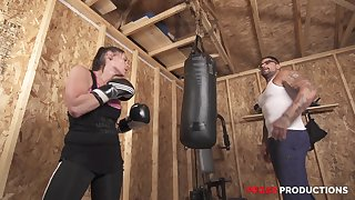Busty sporty MILF babe Tanya gets a hardcore fuck round transmitted to gym
