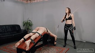 C-PUNISHMENTS - Lady Anette helter-skelter Yoke brutal punishments II