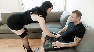 Zealous Mandy Muse takes really monumental cocks into both of her holes