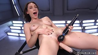 Lilly LaBeau riding copulating gadget