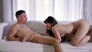 Erotic cunt attrition with an increment of cocksucking foreplay divertissement