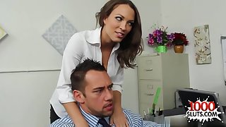 Tasteless porn bamboozle start off office sex