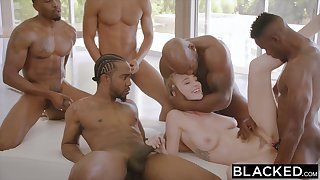 BLACKED Kendra Sunderland BIG BLACK COCK Interracial GANGBANG!! - ANALDIN