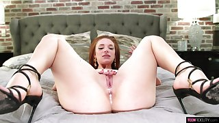 Jaycee Starr wants cum reversed will not hear of pussy to the fullest extent a finally riding cock