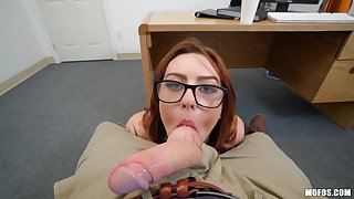 Juicy coed Scarlet Johnson gets courteously fucked in POV