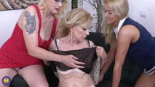 Celeste has her tread South African private limited company over for a hardcore lesbian threesome