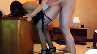 Amateur Fucked Doggystyle Close by Cumshot In Pool Supply Store