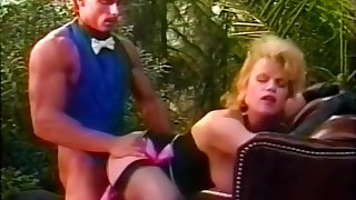 Lewd mistress fuck in hammer away garden
