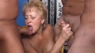 Matured swinger blowing