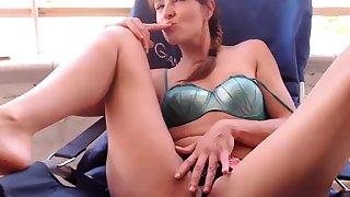 Wet pussy masturbation solo