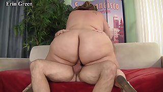 Sexy BBWs bounce their huge cheeks while riding hard cocks