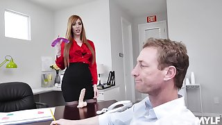 hot secretary Lauren Phillips adores fuck in along to cards explore in her office