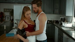 Alluring Caucasian nympho Britney Amber is sexy wife riding dick
