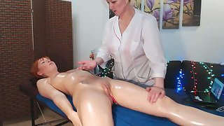 Redhead Gets An Erotic Massage From Mom