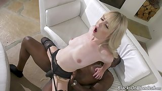 Insightful hard sexual connection beyond everything a BBC for the slim wife