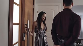 Delicious babe Avi Hallow is making cherish in the air hot blooded boyfriend