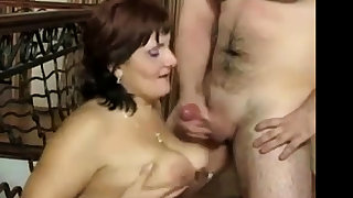 Russian mature Mom added to say no to boy! Amateur!