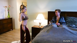 Dusting porn parody with kinky tie the knot Lena Paul who loves hard coitus