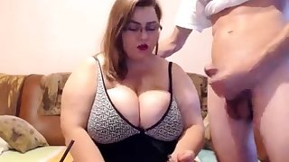 Mature bbw with big gut