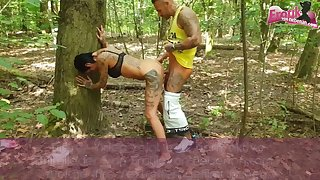 German outdoor troika with german teen ffm