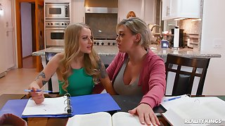 Mom shows step daughter enough skills in a lesbian tryout