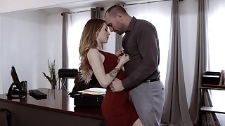 Sexy secretary Karla Kush has a crush on her extreme principal and offers herself