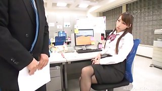 Kinky Japanese office lady demands to be fucked on the amaze