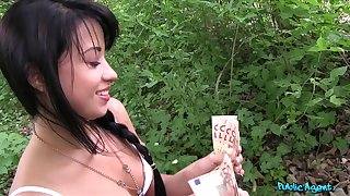 Sluttish Taissia Shanti boffed and creampied in the forest