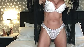 A social distancing webcam session with a huge breasted MILF pornstar