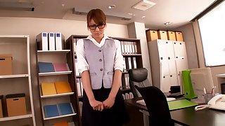 Japanese secretary Kirara Asuka gets fucked by her scalding boss