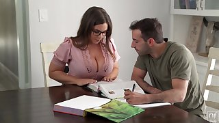 Nerdy stunner with humungous mammories, Natasha Ultra-Cute is yelling for ages c in depth property plowed firm, from the round