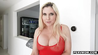 Superbowl smackdown w weighty tits in see-thru tops