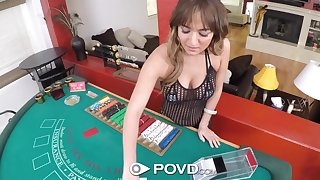 Poker is no divertissement for voracious Charlotte Cross and she fucks doggy hard